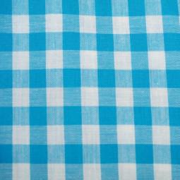 Tissu vichy moyen carreaux  turquoise