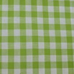 Tissu vichy moyen carreaux  vert anis