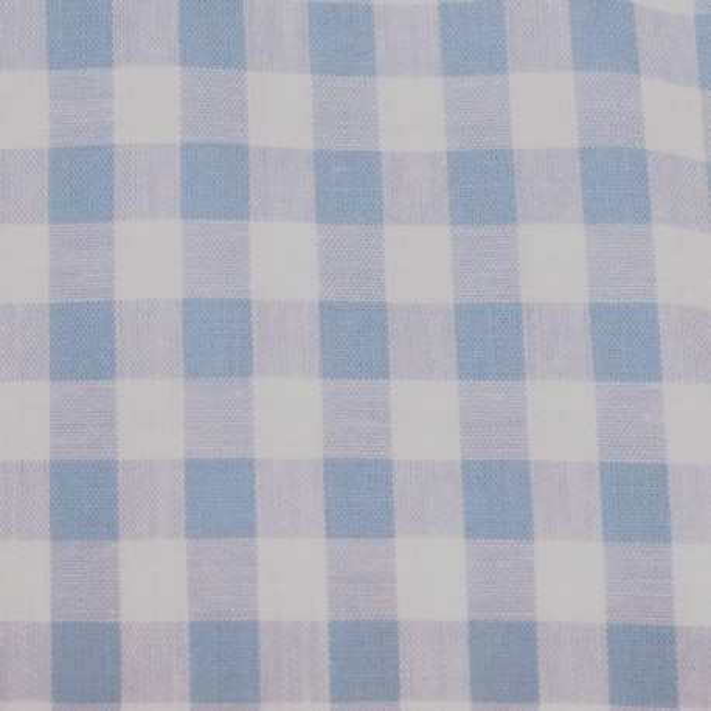 Tissu vichy moyen carreaux  bleu ciel