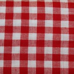 Tissu vichy moyen carreaux rouge