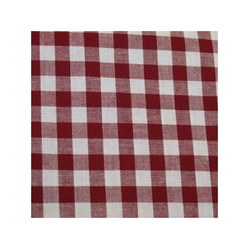 Tissu vichy moyen carreaux bordeaux