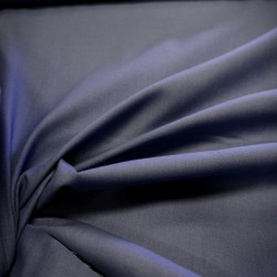 Tissu coton bleu foncé
