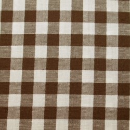 Tissu vichy moyen carreaux chocolat
