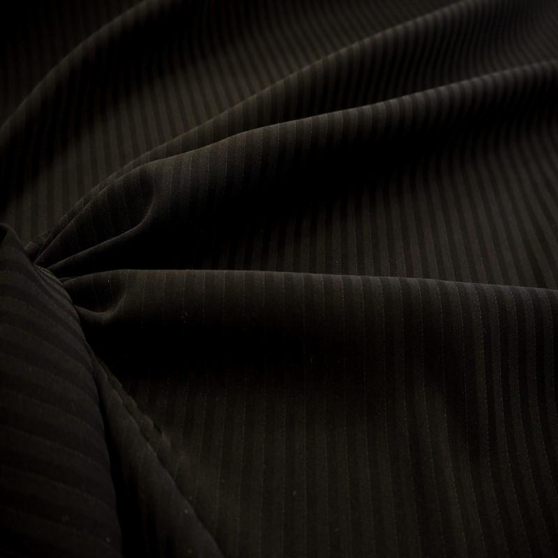 Tissu polyester noir