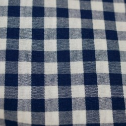Tissu vichy moyen carreaux marine