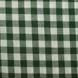 Tissu vichy moyen carreaux vert bronze