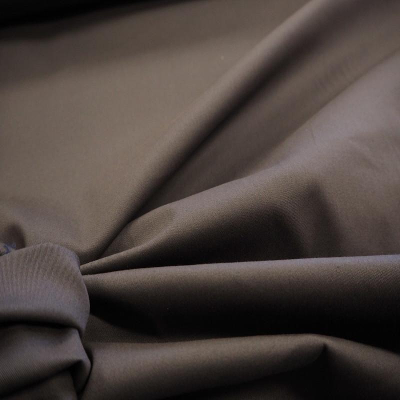 Tissu poly-coton gris moyen