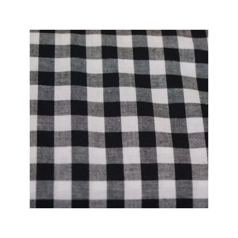 Tissu vichy moyen carreaux noir