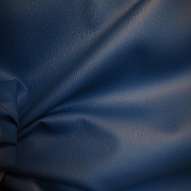 simili cuir granulé bleu roi