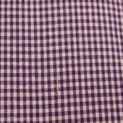 Tissu vichy petits carreaux  violet