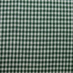 Tissu vichy petits carreaux vert bronze
