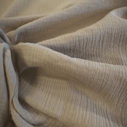 Tissu double gaze uni beige