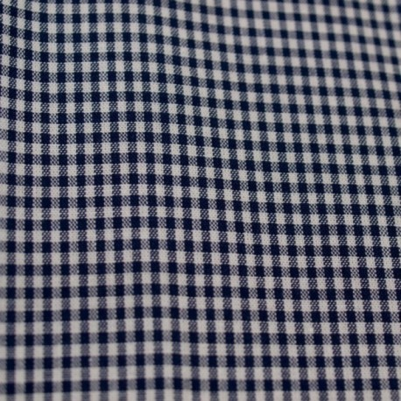Tissu vichy petits carreaux  marine