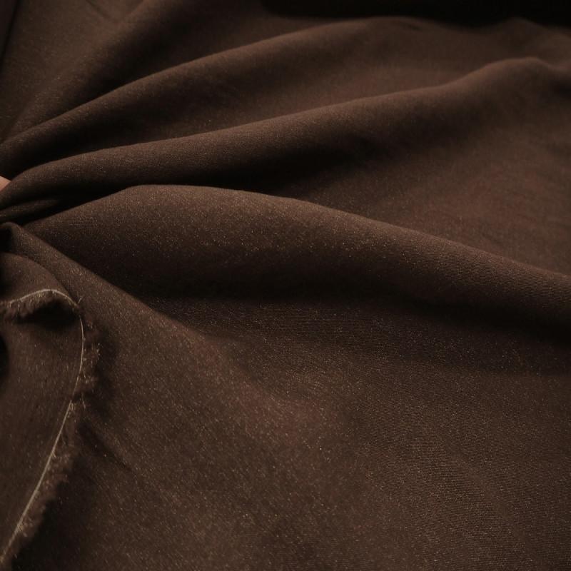 Tissu viscose/lurex chocolat