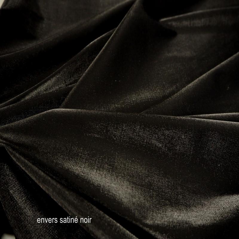 Tissu polyester lycra noir