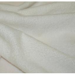 Tissu éponge blanche
