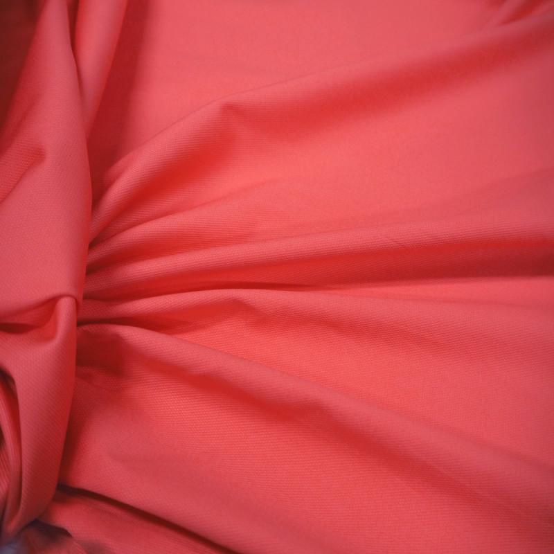 Tissu tricotine coton corail
