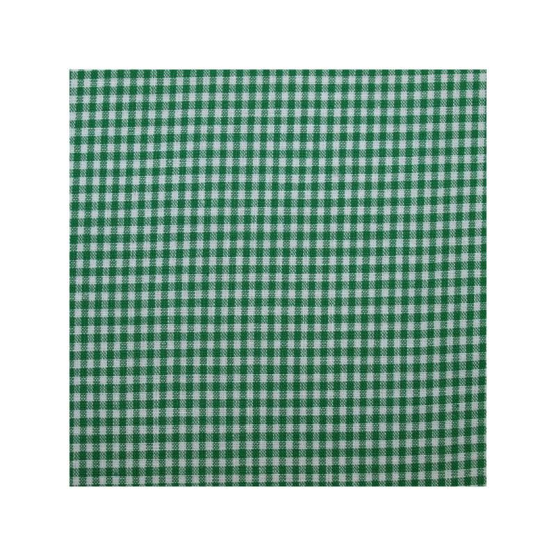 Tissu vichy petits carreaux vert cru