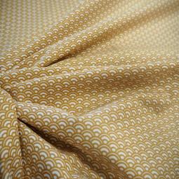 """Coton imprimé """"géométrique"""" ocre"""