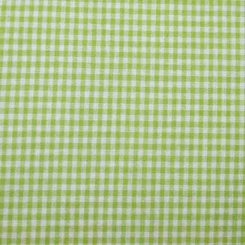 Tissu vichy petits carreaux  vert anis
