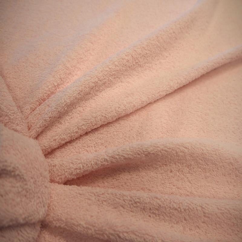 Tissu éponge rose pâle