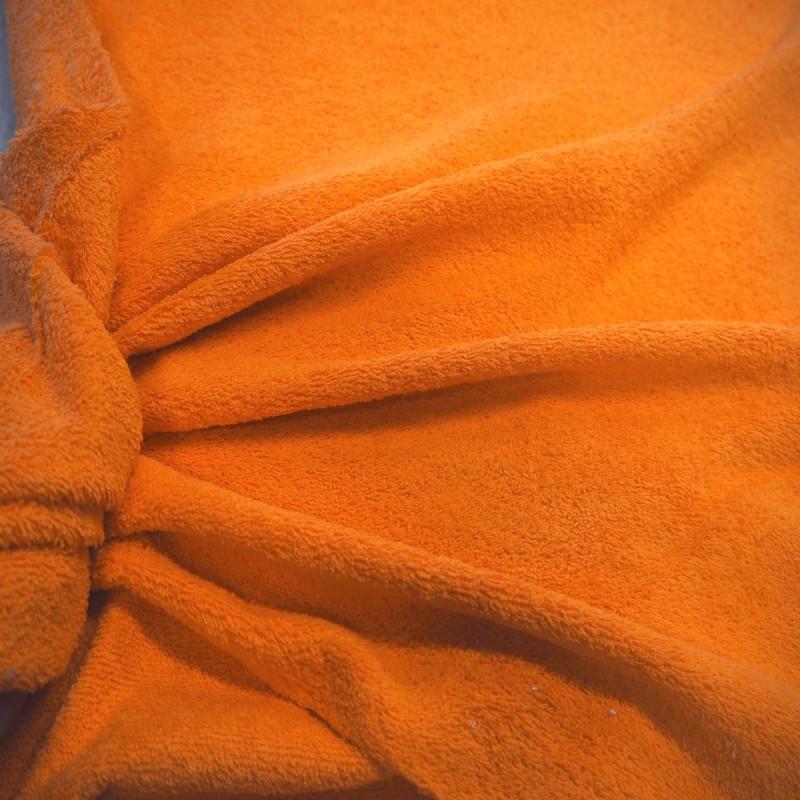 Tissu éponge orange