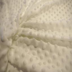 Tissu polaire Minky blanc cassé