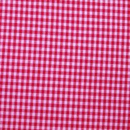 Tissu vichy petits carreaux fuchsia