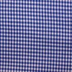 Tissu vichy petits carreaux  bleu roi