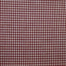 Tissu vichy petits carreaux  bordeaux
