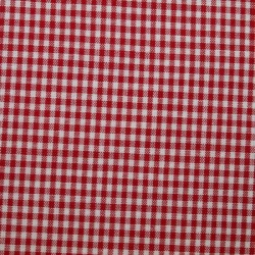 Tissu vichy petits carreaux rouge