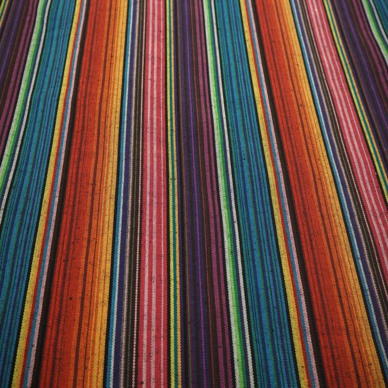 Tissu mexicain bleu /orange