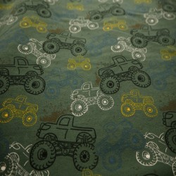Tissu jersey imprimé molletonné