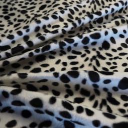 "Tissu imitation peau de bête ""dalmatien"""