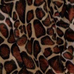 """Tissu imitation peau de bête """"girafe"""""""
