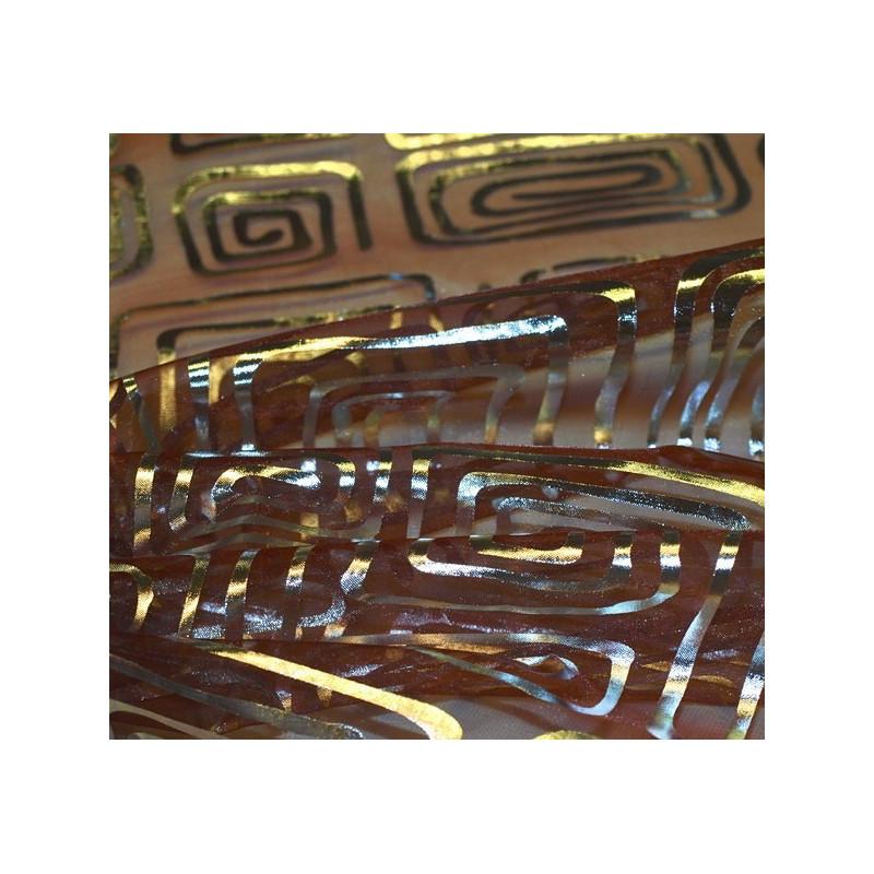 Tissu organza spirales