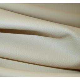 Simili-cuir granulé blanc