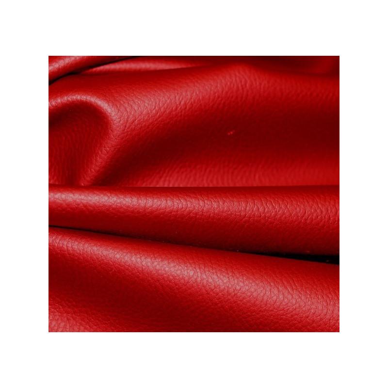 Simili-cuir granulé rouge