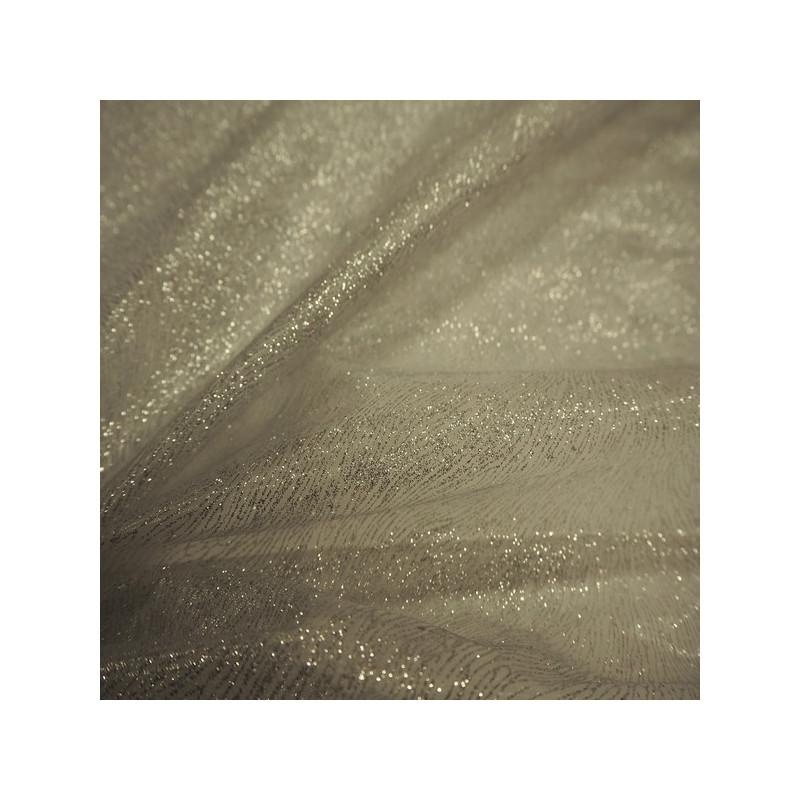 Tissu organza argent