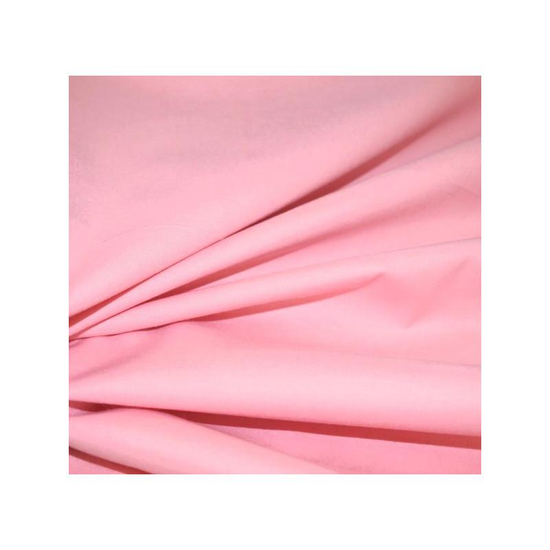 Coton uni rose