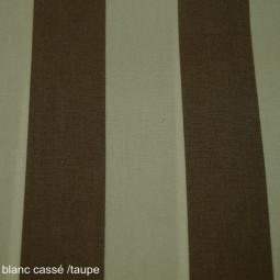 Tissu extérieur  blanc cassé/ taupe
