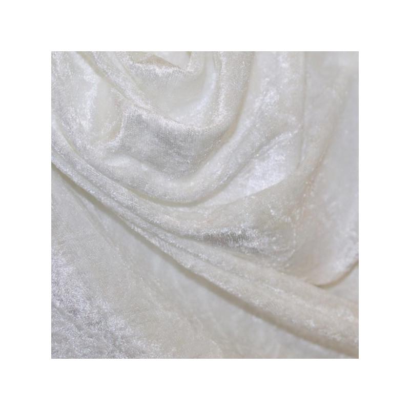 panne de velours blanche