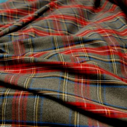 Tissu écossais gris / rouge