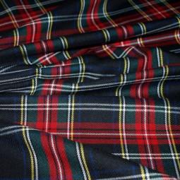 Tissu écossais noir/ rouge