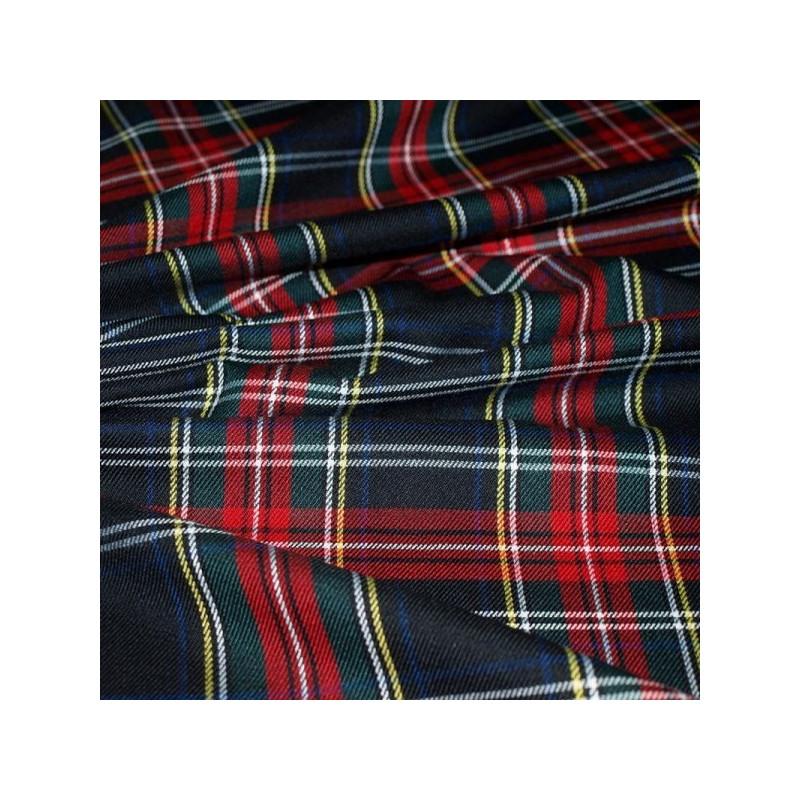 Tissu écossais marine