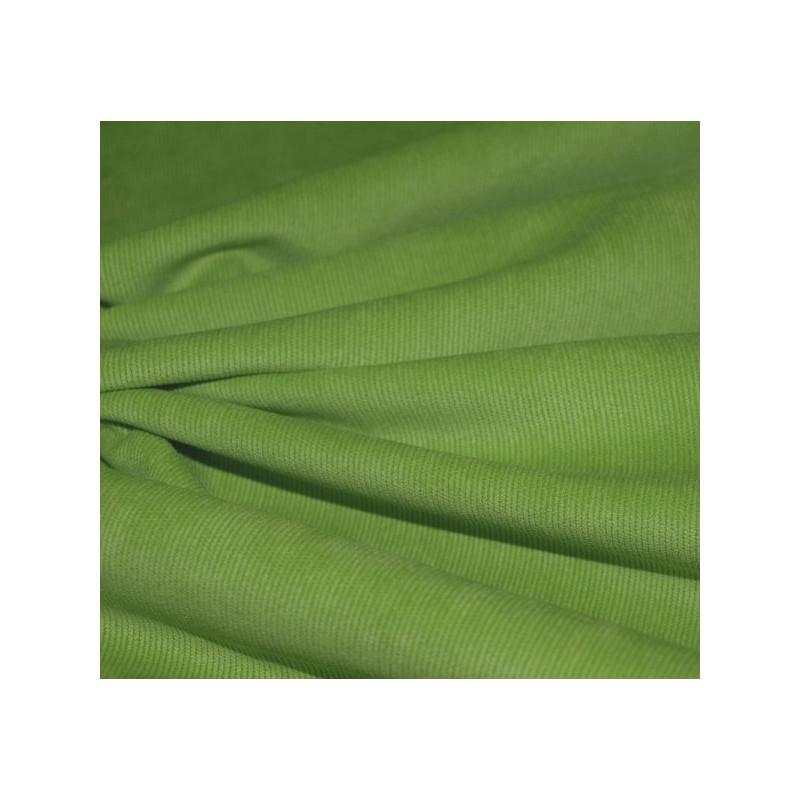 Velours milleraies vert anis