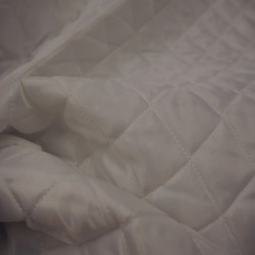 doublure matelassée blanc