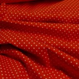 Coton rouge à petits pois