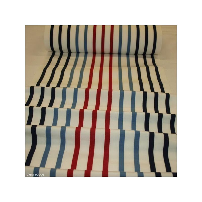 Toile transat bleu/rouge