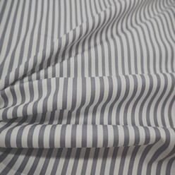 Tissu coton rayé